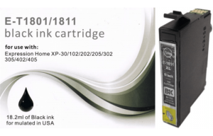t1811 black ink cartridge for use with Epson printer xp-205